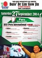 DXN Peru's Online Conference with Dato' Dr. Lim Siow Jin on 27 Sept 2014