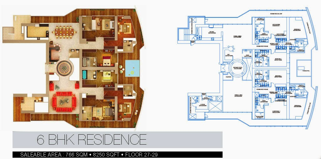 BRYS BUZZ :: Floor Plans 6 BHK Residence