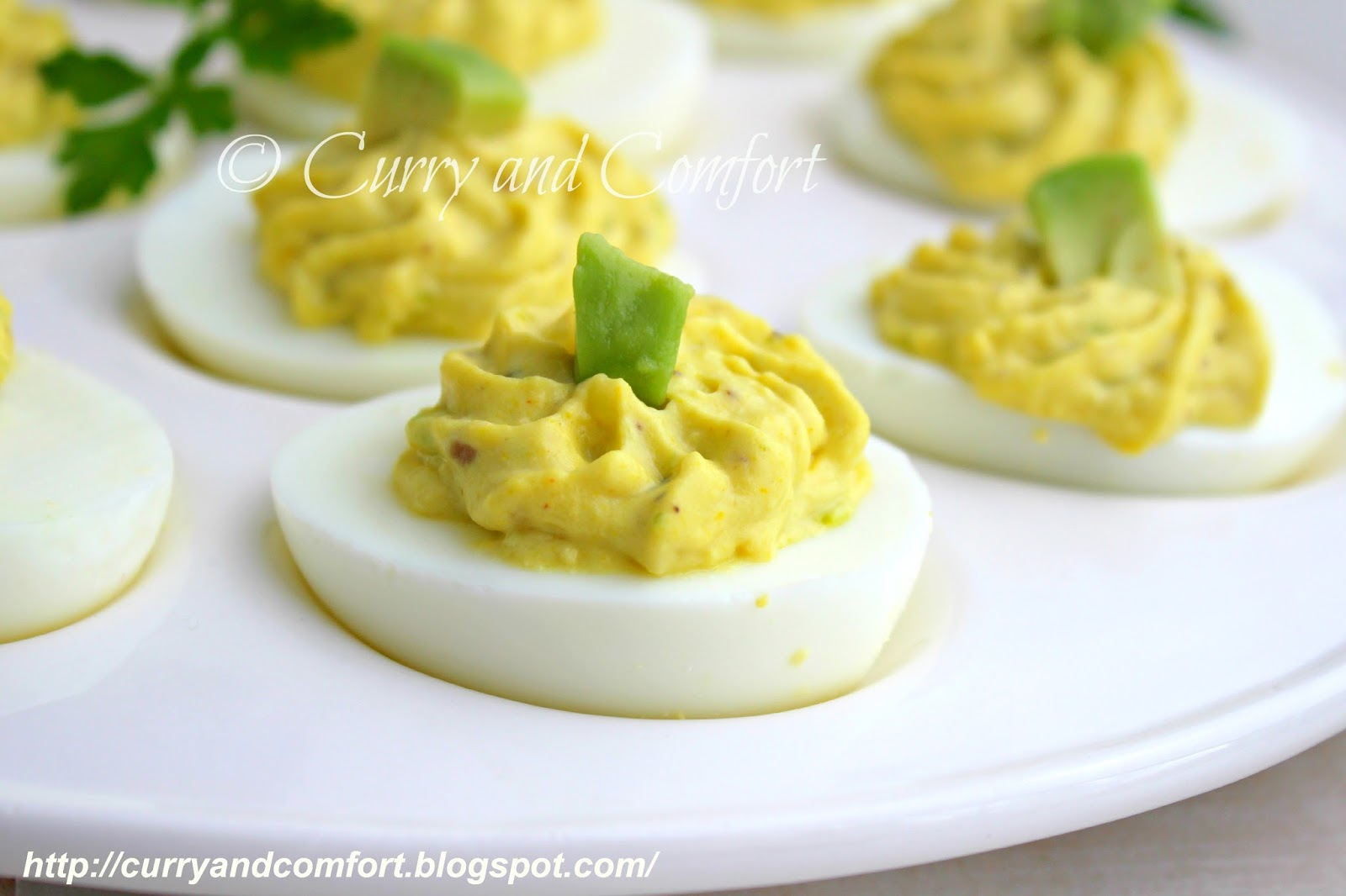 Kitchen Simmer: Avocado Deviled Eggs
