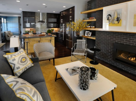 Kitchen Family Room Combination Minimalist Home Interior