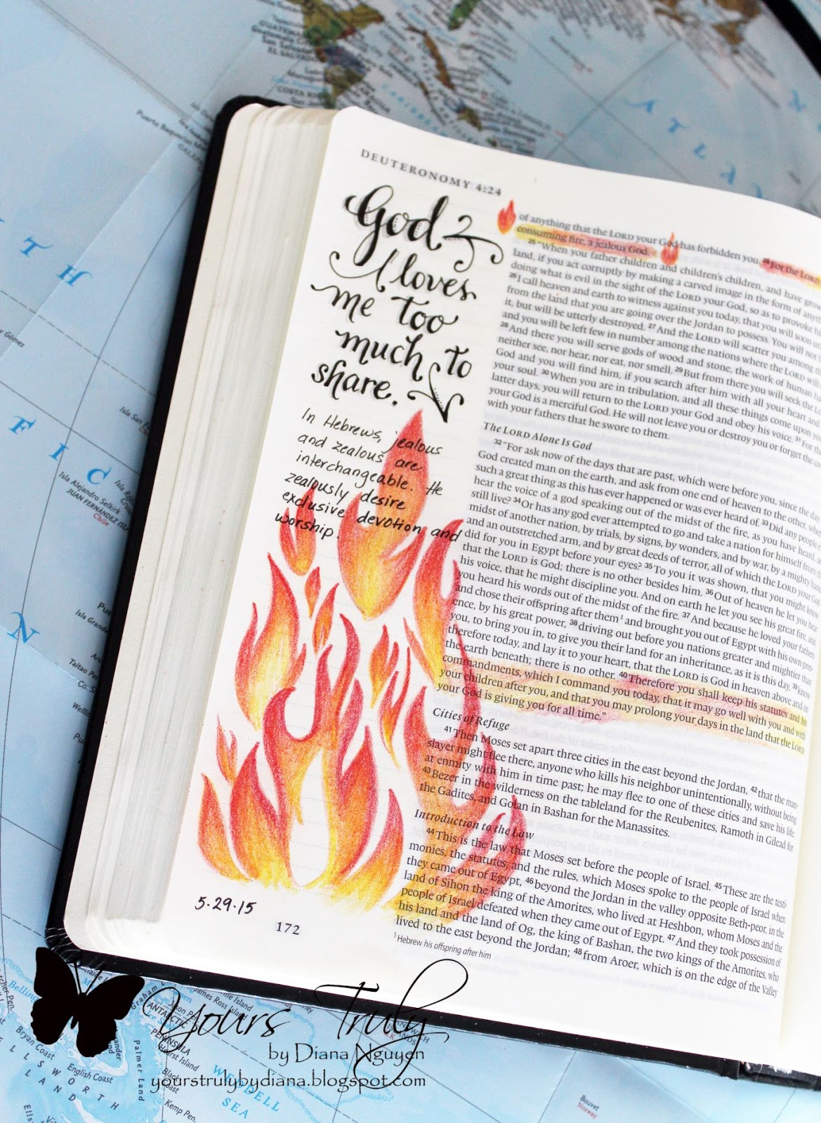 Diana Nguyen Bible Journaling Illustrated Faith Deuteronomy