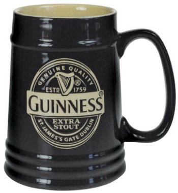 Jarra de cerveza de cerámica, modelo oficial de Guinness.