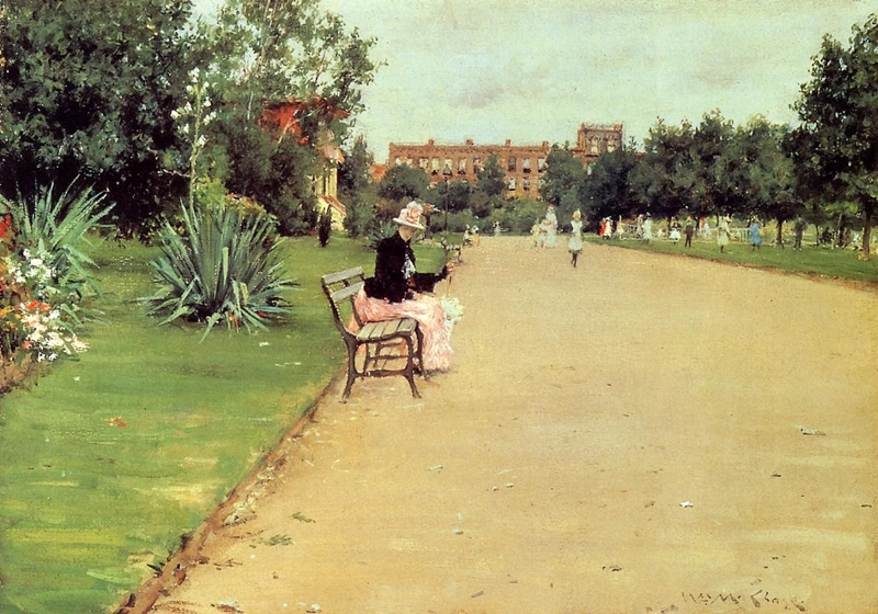 William Merritt Chase 1849-1916 | American Impressionist painter | The Plein Air Scenes