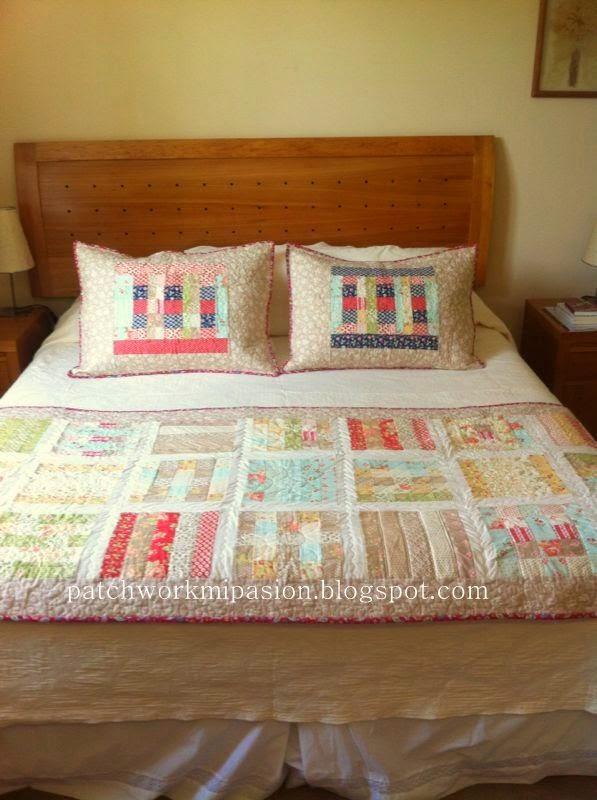 Patchwork mi pasion pie de cama con jelly roll - Pie de cama ...