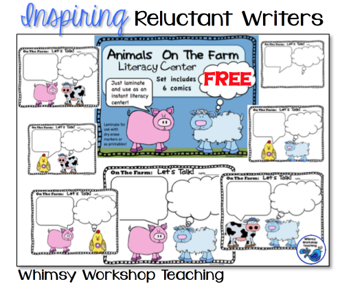 Using comic formats to inspire reluctant writers - 7 free pages