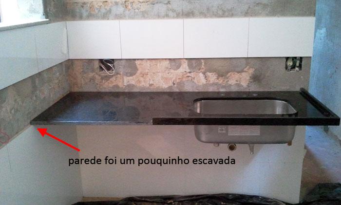 Reforma reforma Bancadas afinal!!! -> Como Colocar Pia De Banheiro Na Parede