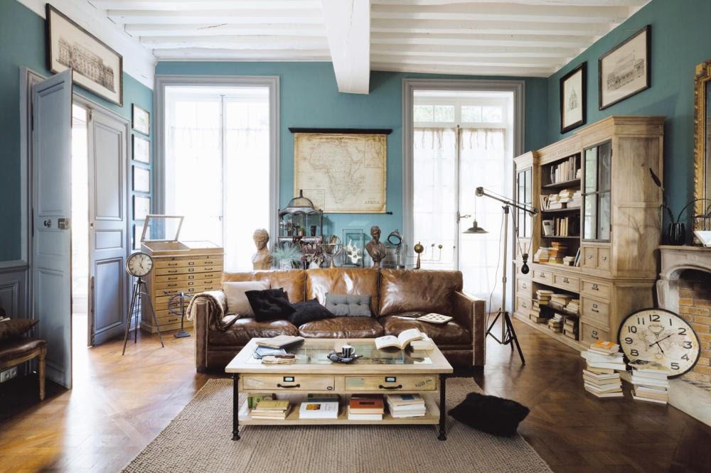 Salas de color celeste salas con estilo - Decoracion de salones vintage ...