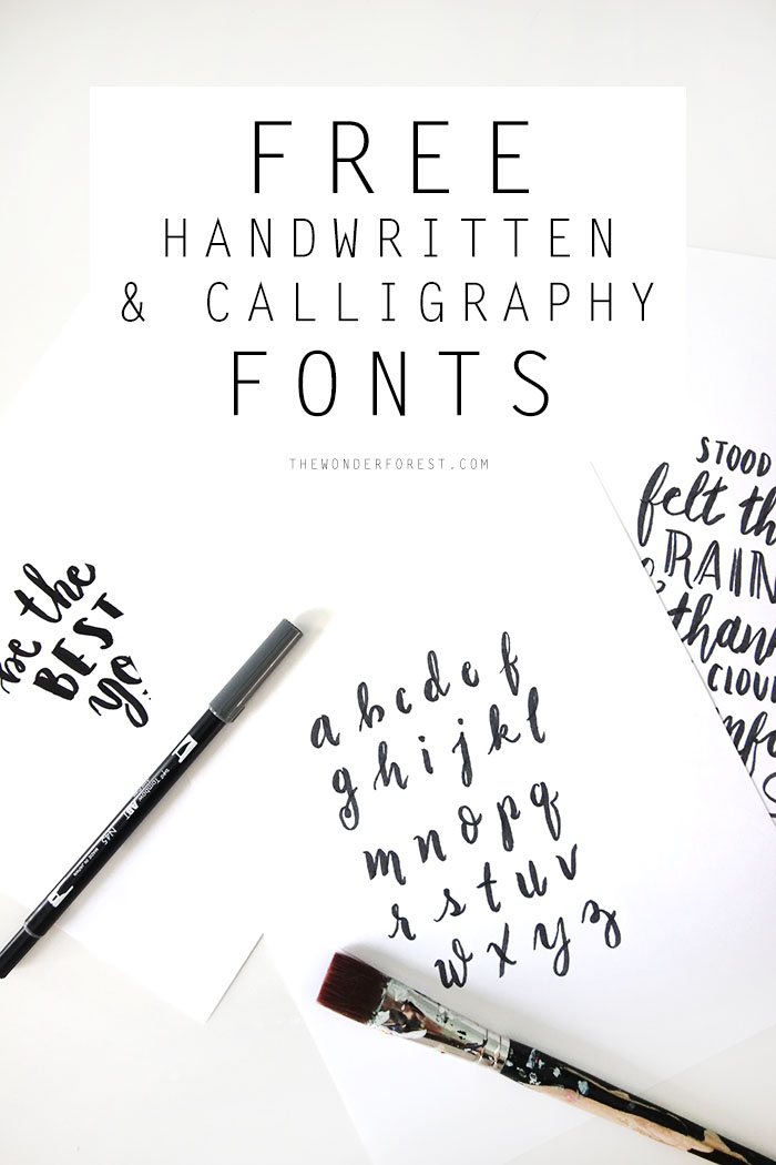 This is a photo of Obsessed Printable Calligraphy Fonts