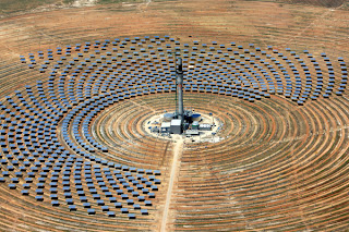 Gemasolar array in Spain