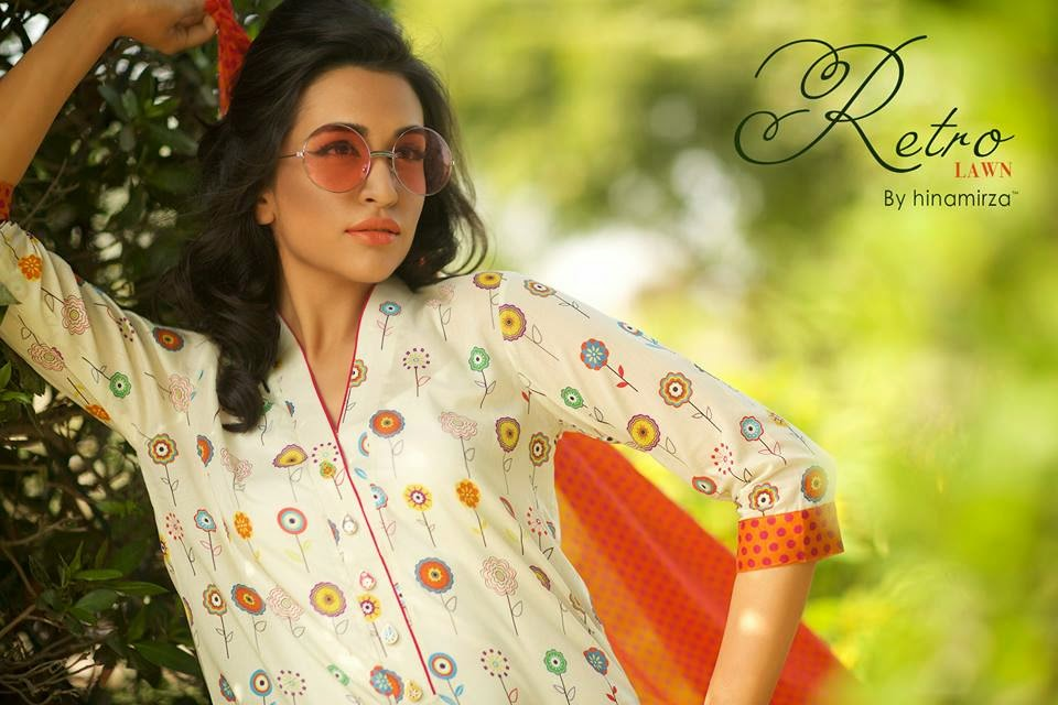 Hina Mirza Summer Prints Lawn Collection for Girls