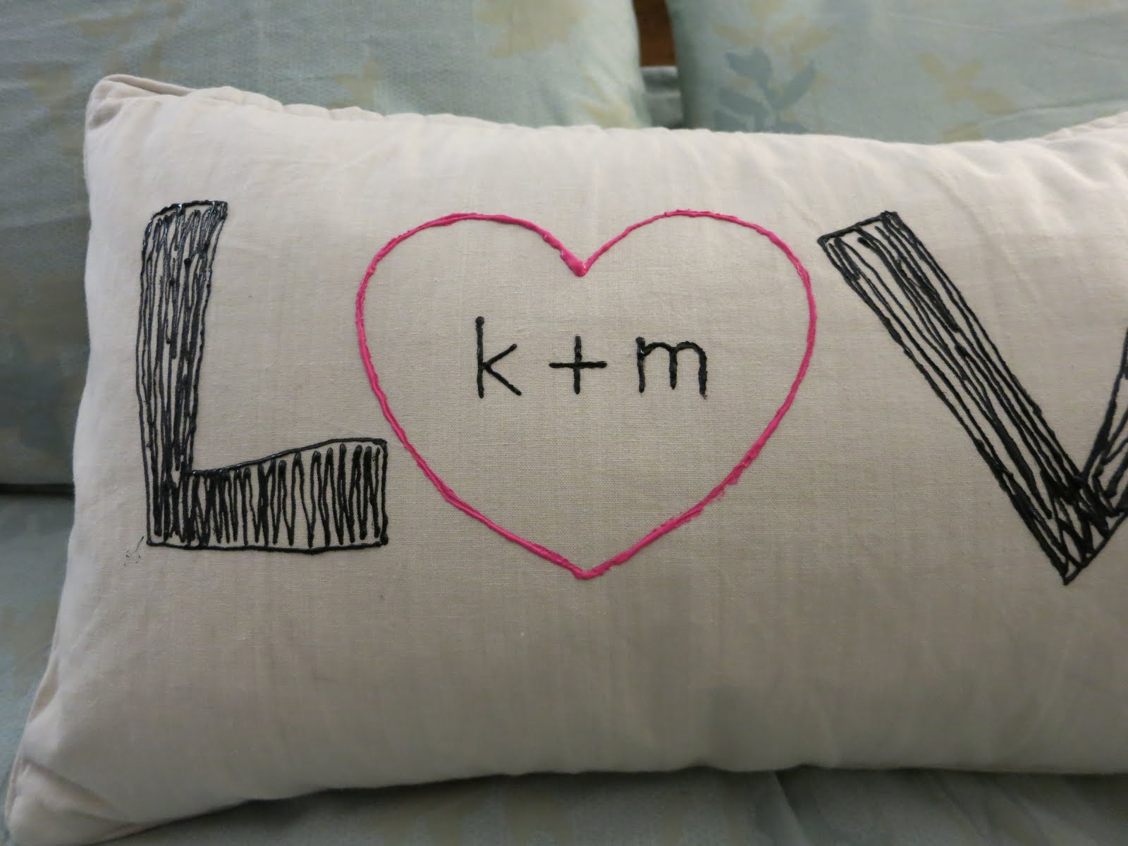 Keep It Simple and Fun: Love Throw Pillow
