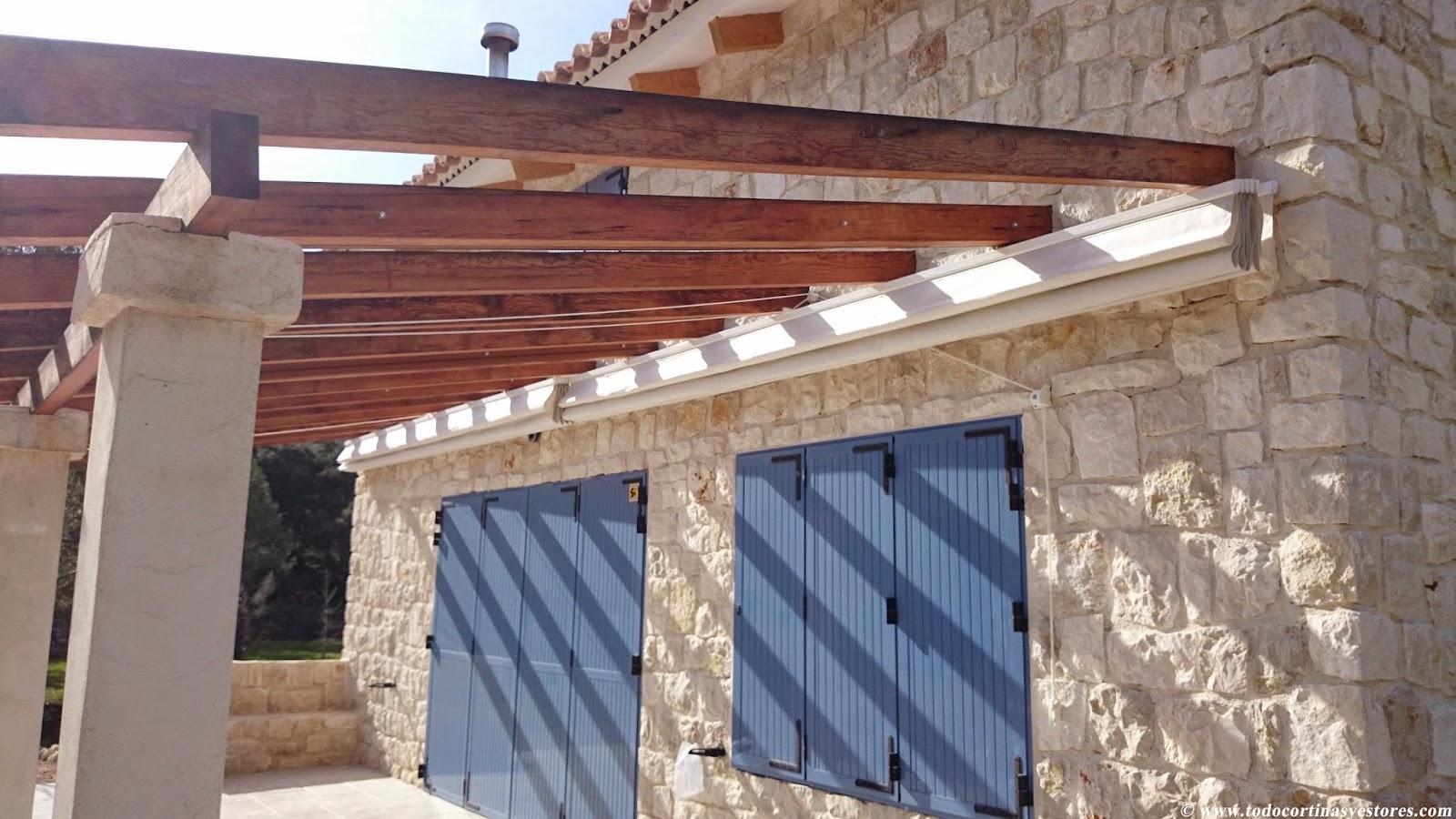 Decoracion interior cortinas verticales estores enrollables puertas plegables toldos - Pergola impermeable ...