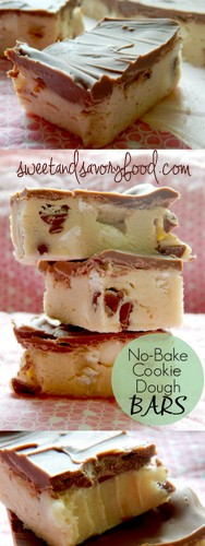 no bake cookie dough bars (sweetandsavoryfood.com)