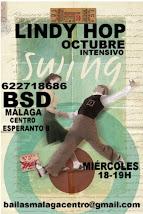 LINDY HOP EN OCTUBRE A LAS 18H LOS MIÉRCOLES EN BSD BAILAS SOCIAL DANCE MÁLAGA CENTRO .