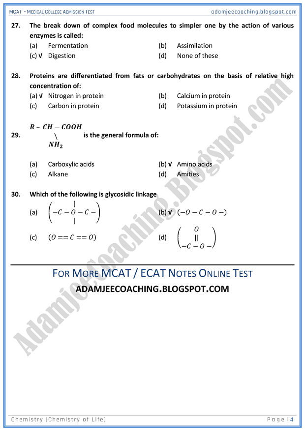 mcat-chemistry-chemistry-of-life-mcqs-for-medical-entry-test