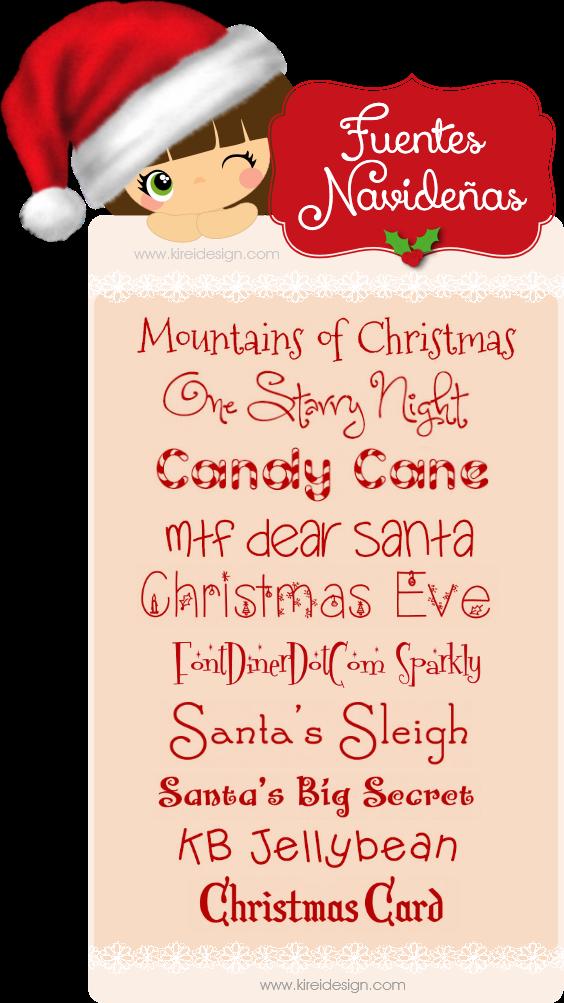 fuentes gratis navidad