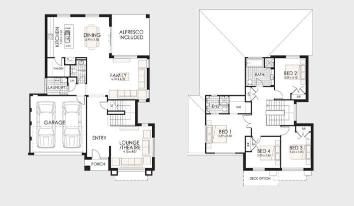 plano de casa de dos pisos o niveles