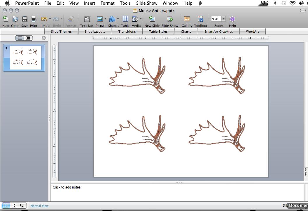Moose Drawing Outline a Drawing of Moose Antlers