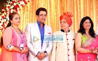 Shahrukh and Abhishek at Wedding reception of Govind Namdev's daughter Megha Namdev & Rajiv Verma