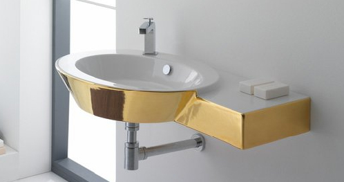Home Decorating Bathroom Suites Gold Colored Bathroom Fixtures By - Colored bathroom fixtures