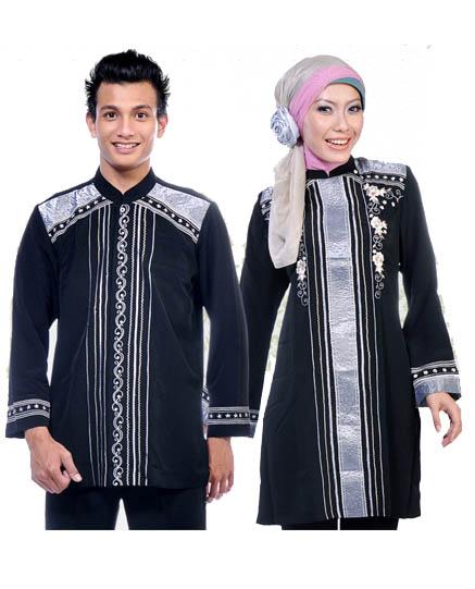 model baju kemeja couple muslim tangan panjang