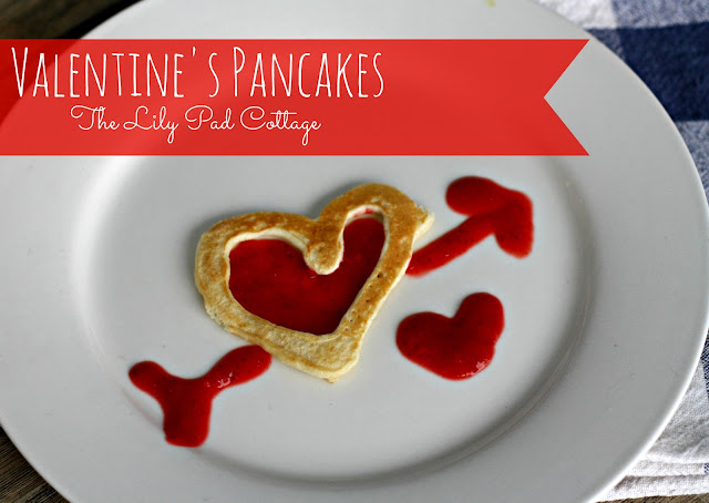 valentine heart pancakes