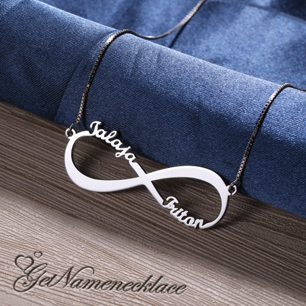 getnamenecklace infinity initial necklace