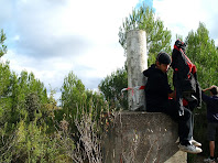 Vèrtex geodèsic al cim del Puig Montmany