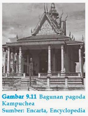 bangunan pagoda kamboja