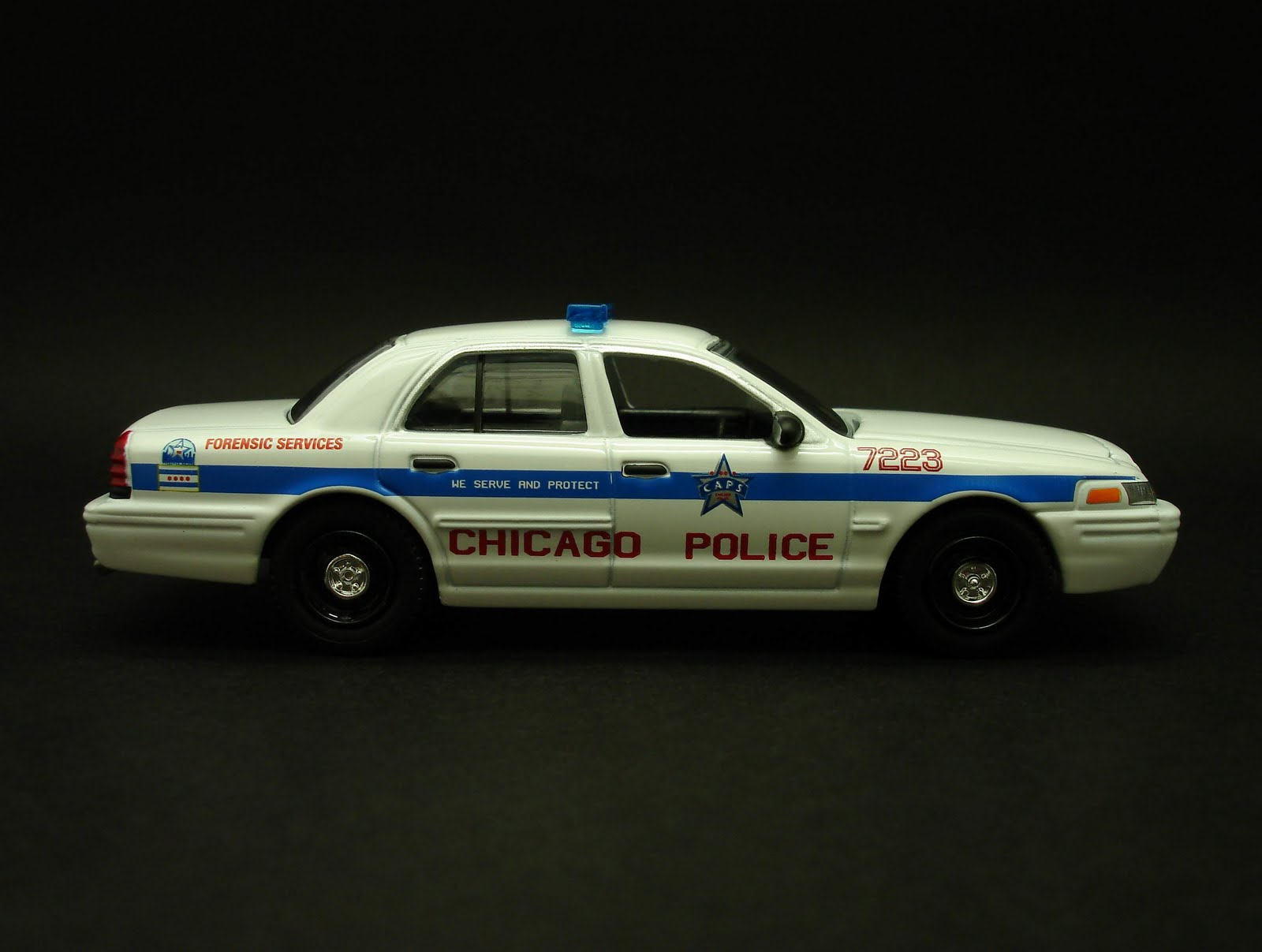 1970 Ford Police Interceptor Chicago Crown Victoria Diecast Hobbist Il Forensic Services Car 1600x1207