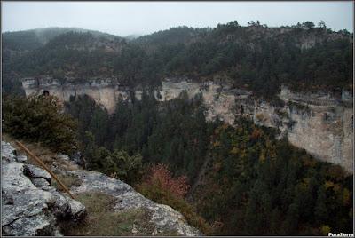 Cañón del Río Escabas al acabar la hoz que cierra el Parque