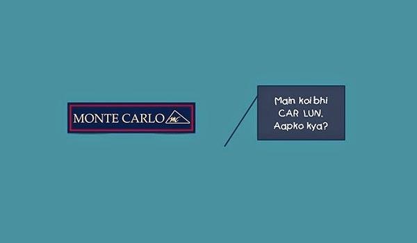 A fun poster using Monte Carlo logo