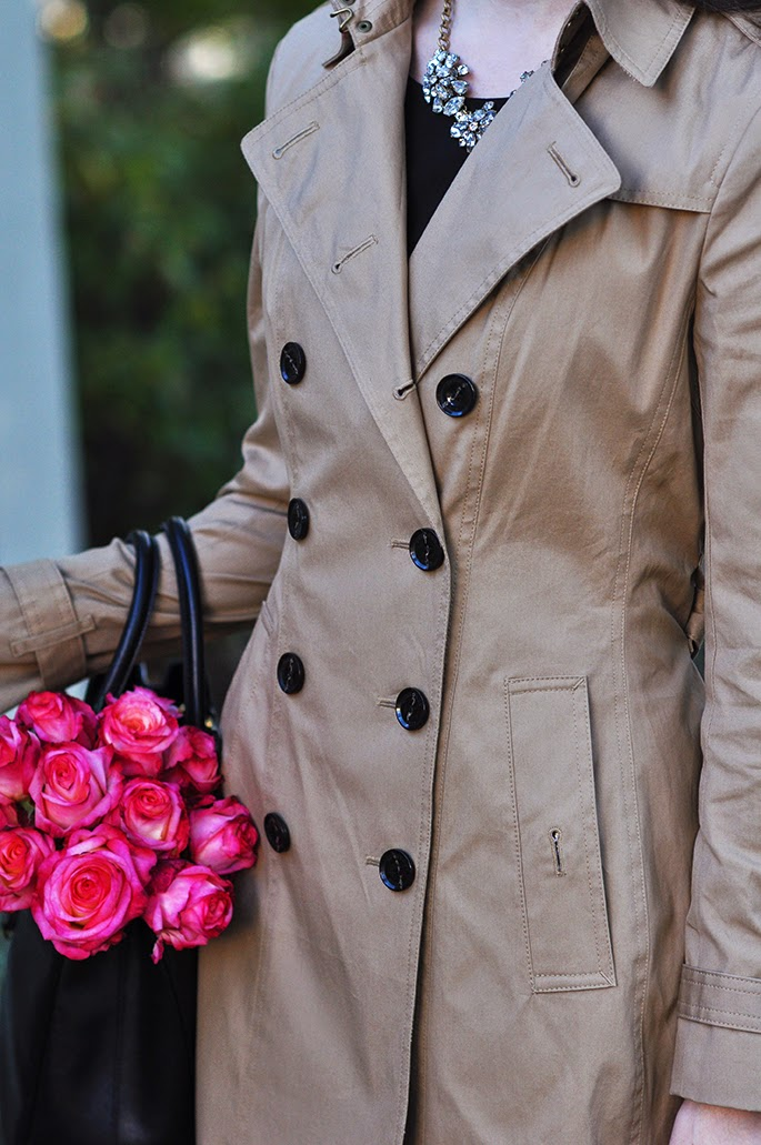 Burberry camel trench coat