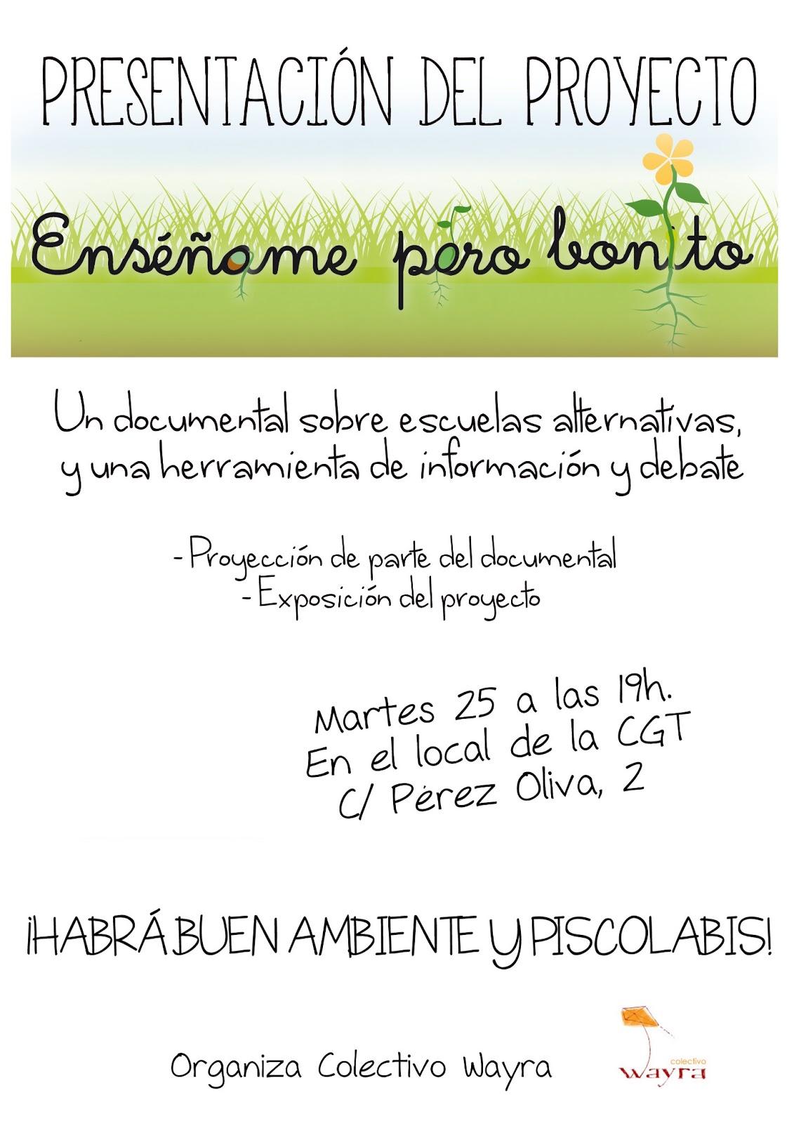 Colectivo wayra salamanca presentaci n del documental for Ensename todo