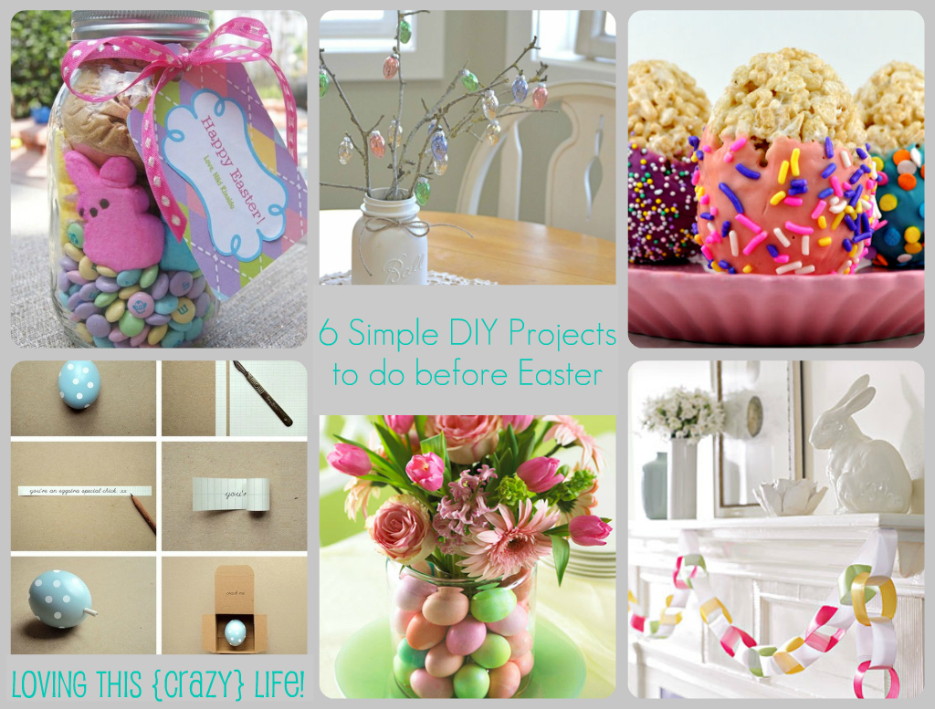Loving this crazy life last minute easter diy projects for Diy easter decorations home