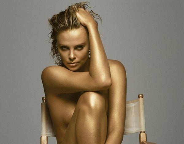 Charlize Theron Bodypainting