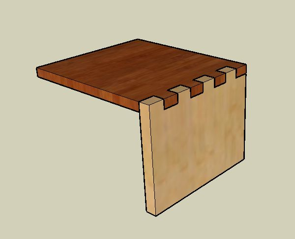 Joining timber using components