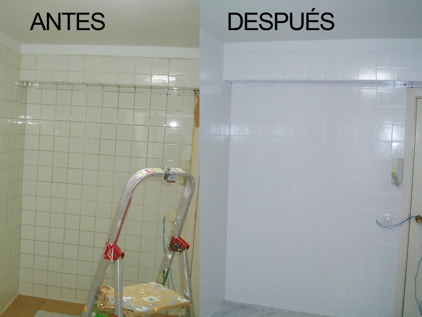Mundocolor bruguer c mo renovar tu ba o o cocina f cilmente - Banos azulejos pintados ...