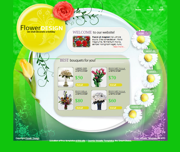 Ecommerce Site Name : Flowers Shop Green