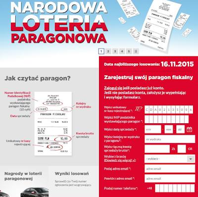 konkurs paragonowy loteria paragonowa rejestracja