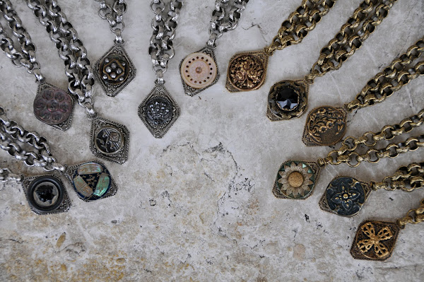 Vintage button bracelets.  $42