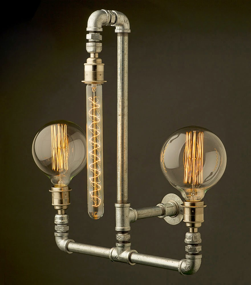 Edison light globes steampunk lamps spicytec for Industrial design lighting fixtures