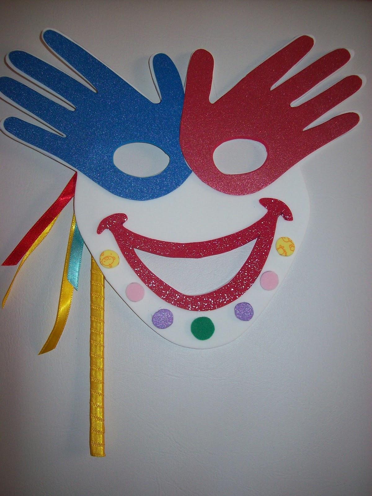Apaixonada Pela Educação Infantil Modelo De Máscaras Do Carnaval