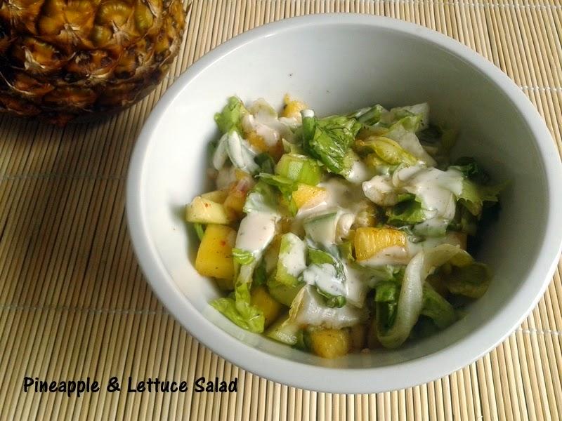 Pineapple & Lettuce Salad