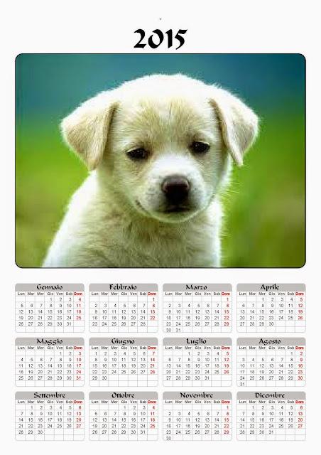 calendario 2015 cane