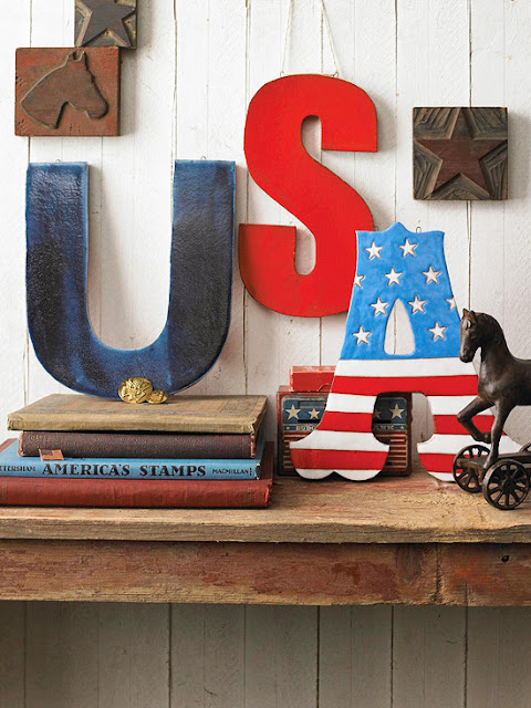 patriotic typography