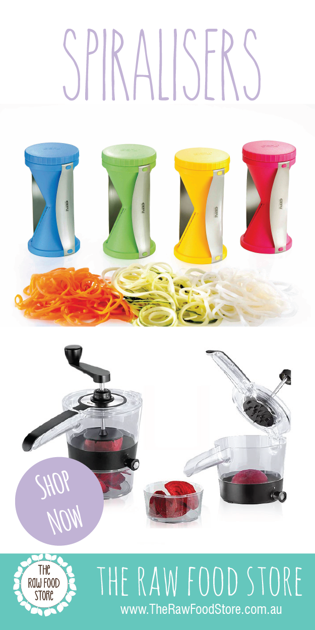 I love using a spiraliser to make delicious vegetable noodles and spaghetti!