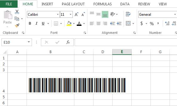 Cara Membuat Barcode dengan Excel 3