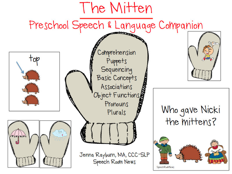 variety of activities to use along with Jan Brett's The Mitten