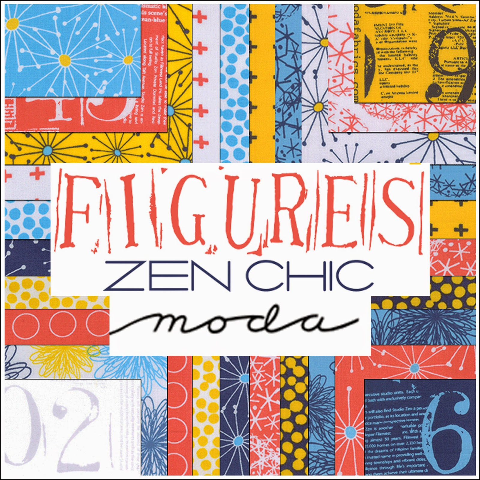 Moda FIGURES Quilt Fabric by Zen Chic for Moda Fabrics